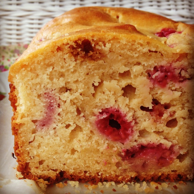 raspberry & lemon yoghurt loaf