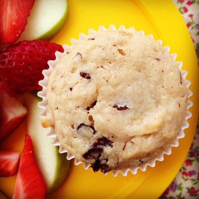 banana choc muffins