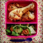 pesto pasta salad & lemon thyme & honey chicken