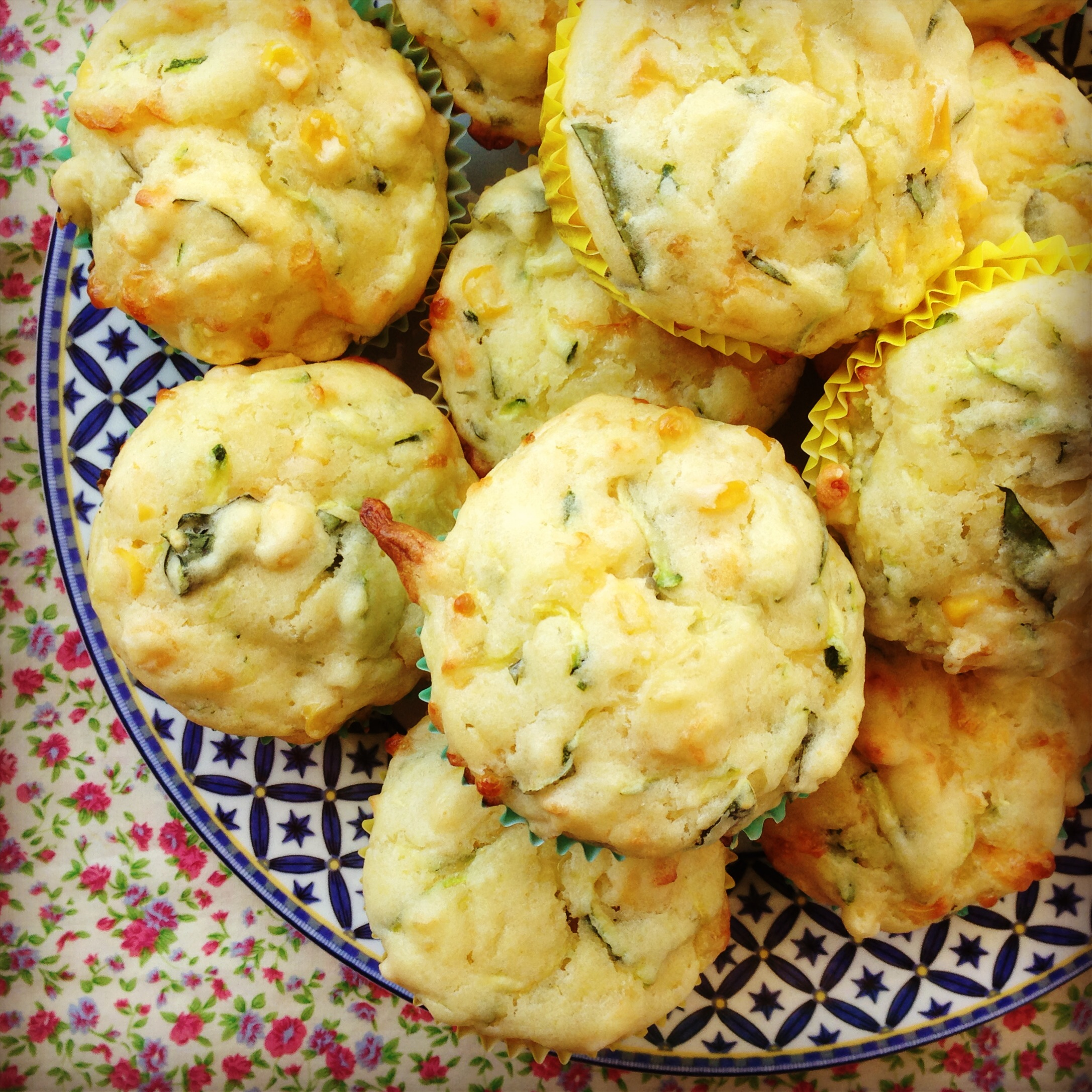 zucchini, corn & cheese muffins | my lovely little lunch box