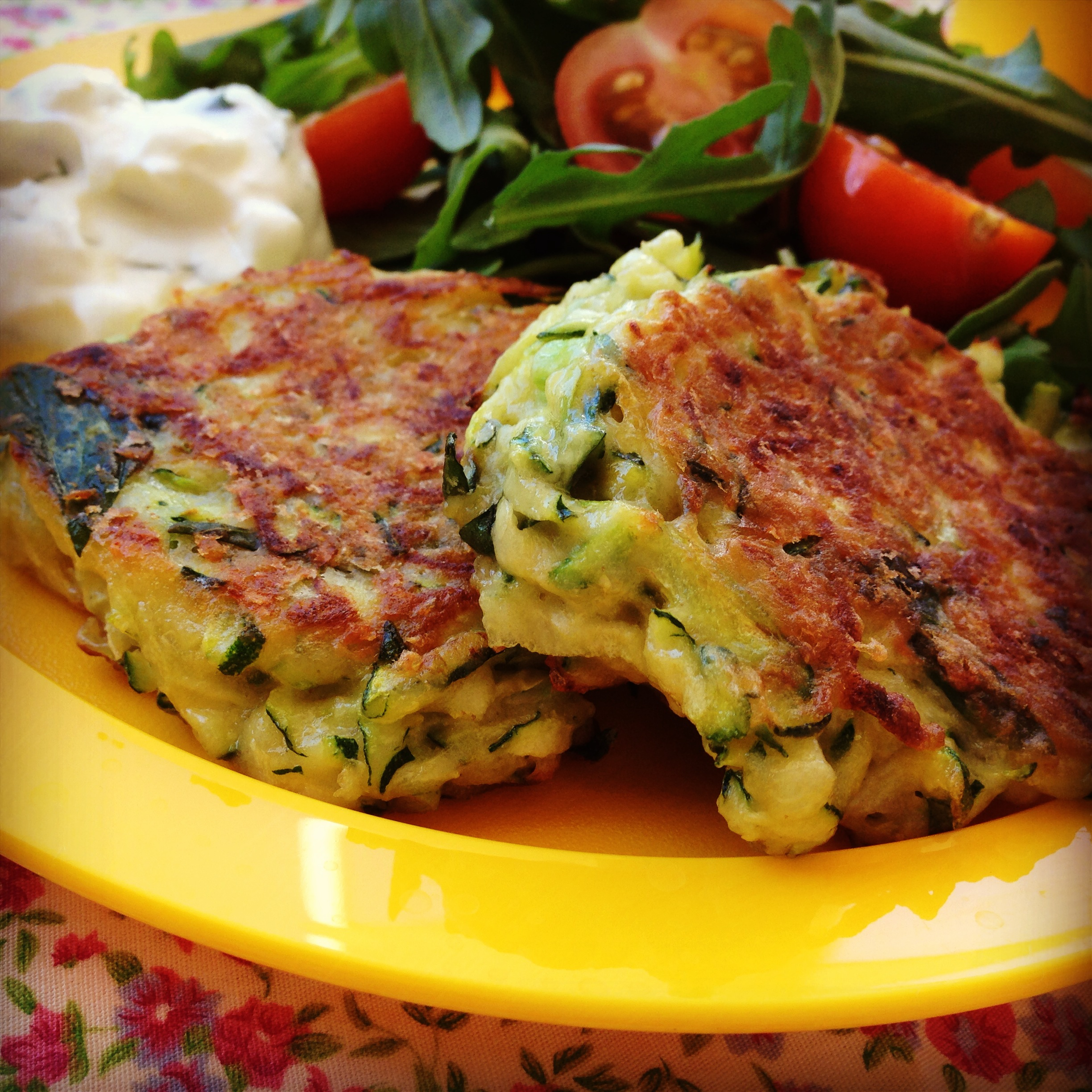 zucchini fritters | my lovely little lunch box