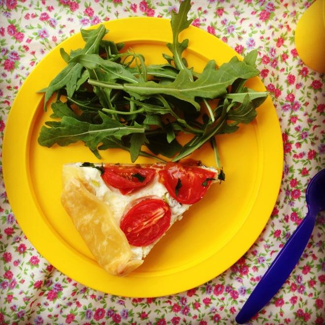 tomato ricotta tart