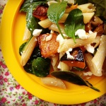 roasted pumpkin & feta pasta salad