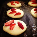 strawberry & orange buttermilk pikelets