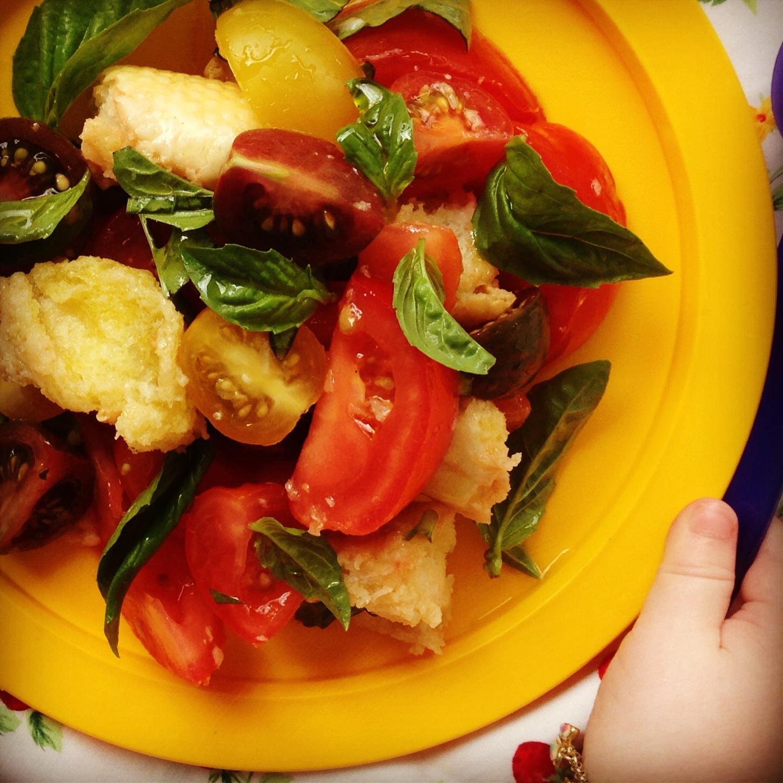 italian tomato & bread salad | my lovely little lunch box