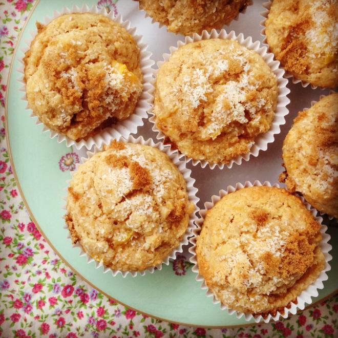 mango & coconut muffins