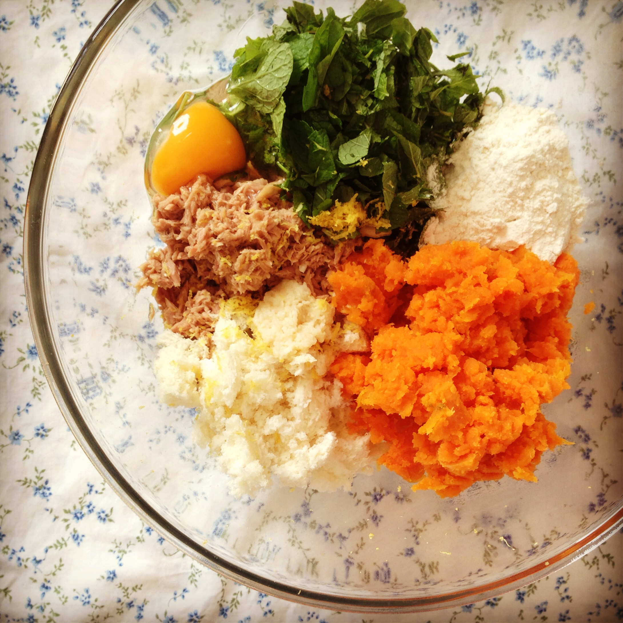 ... and spinach mash and sweet potato mash with sweet potato mash and mint