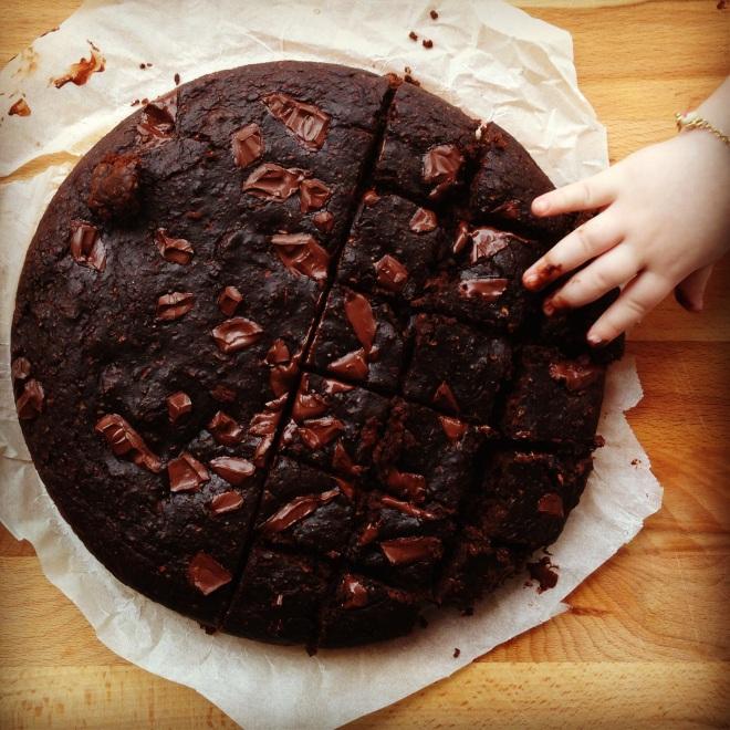 festive zucchini choc brownies