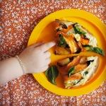 ricotta & sweet potato pizza