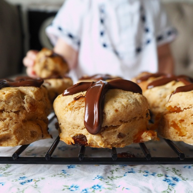choc cross scones