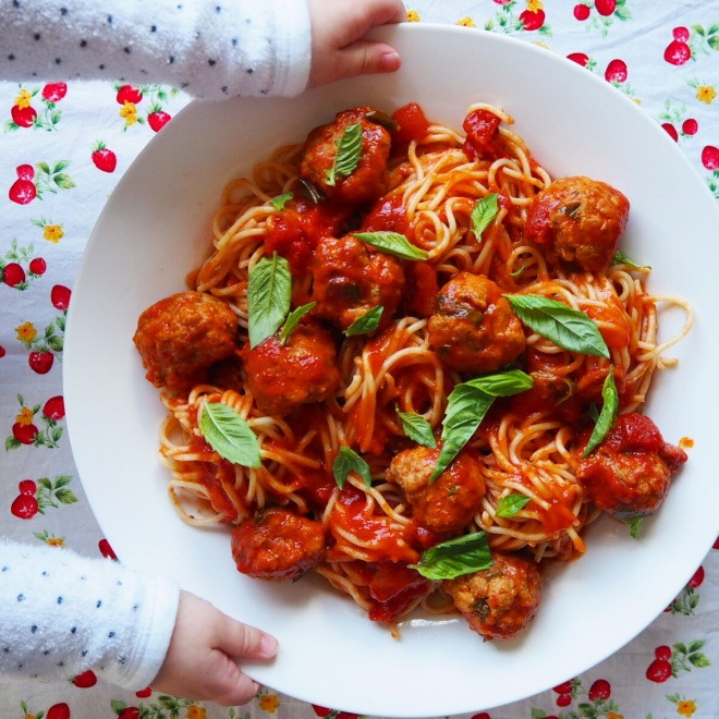 spaghetti polpette