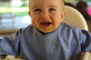 Get better protection & a faster clean-up with a Little Chomps Messy Mealtime Smock