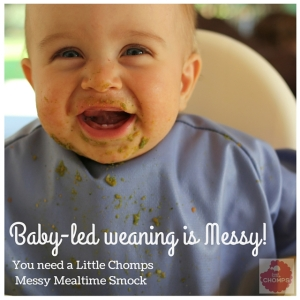 Baby led weaning is messy